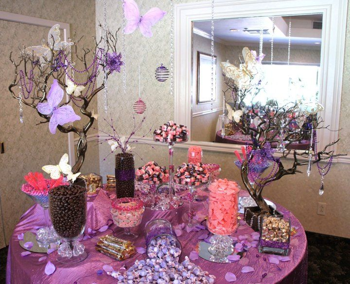 Butterfly Candy Buffet For Baby Shower Candy Buffet Pictures Purple Candy Buffet Candy Buffet