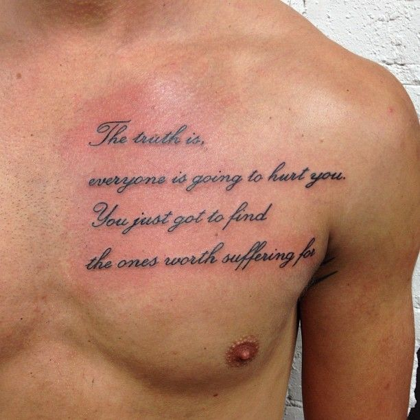 Tattoo Info Chest Tattoo Quotes Chest Tattoo Men Matching Tattoos
