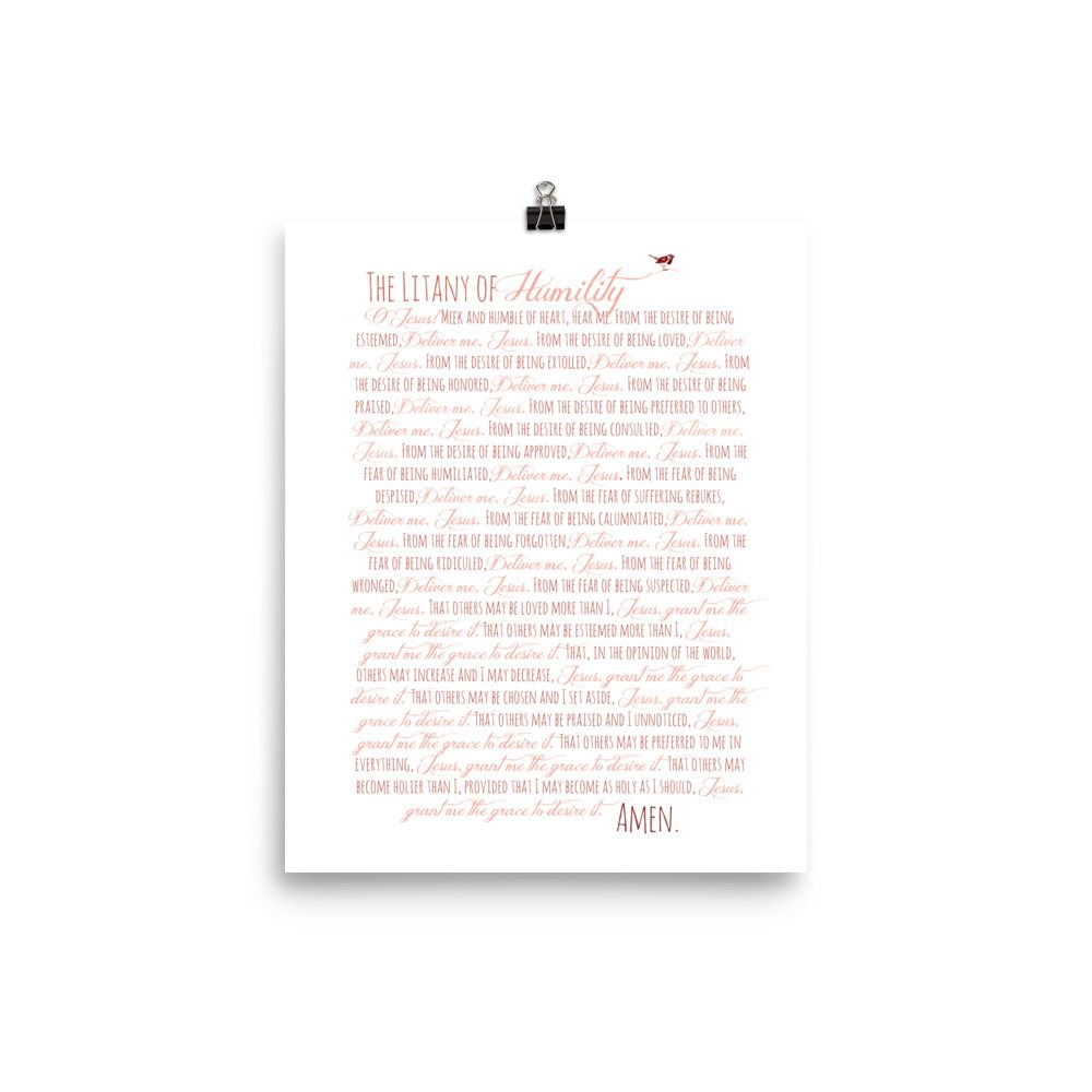 It's just an image of Lively Litany of Humility Printable