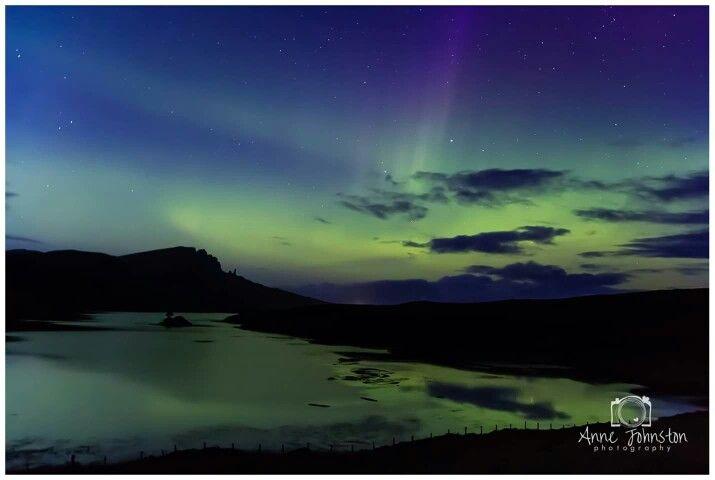 Aurora over Storr, Isle of Skye