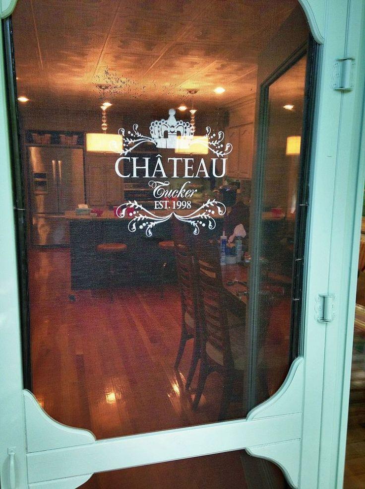 Personalize your screen door with a custom stencil for Bella retractable screen door