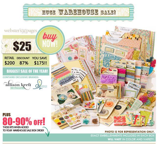 Christmas $25 Huge Warehouse Sale - Webster's Pages