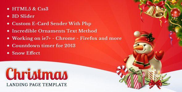 Christmas Landing Page Landing page, Marketing template