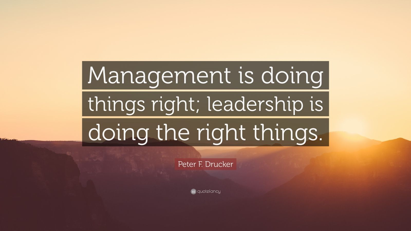 "Leadership Quotes Leadership Quotes ""Management Is Doing Things Right Leadership Is"