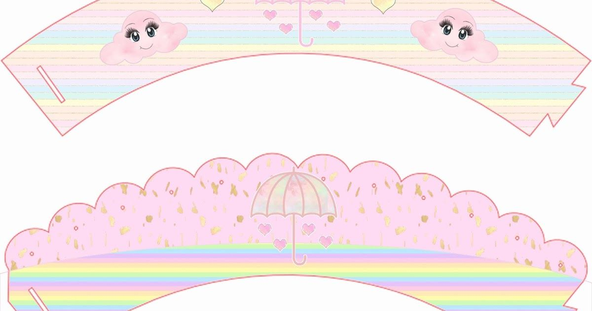Saia Para Cup Cake Com Imagens Festa De Panda Festa Nuvens