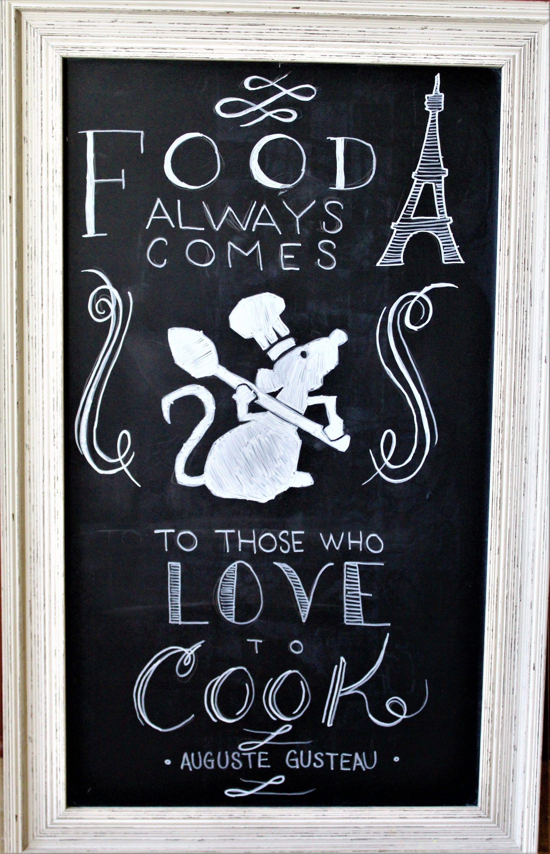 Ratatouille Chalkboard Art For The Kitchen The Healthy Mouse Disney Decor Disney Kitchen Decor Disney Home Decor