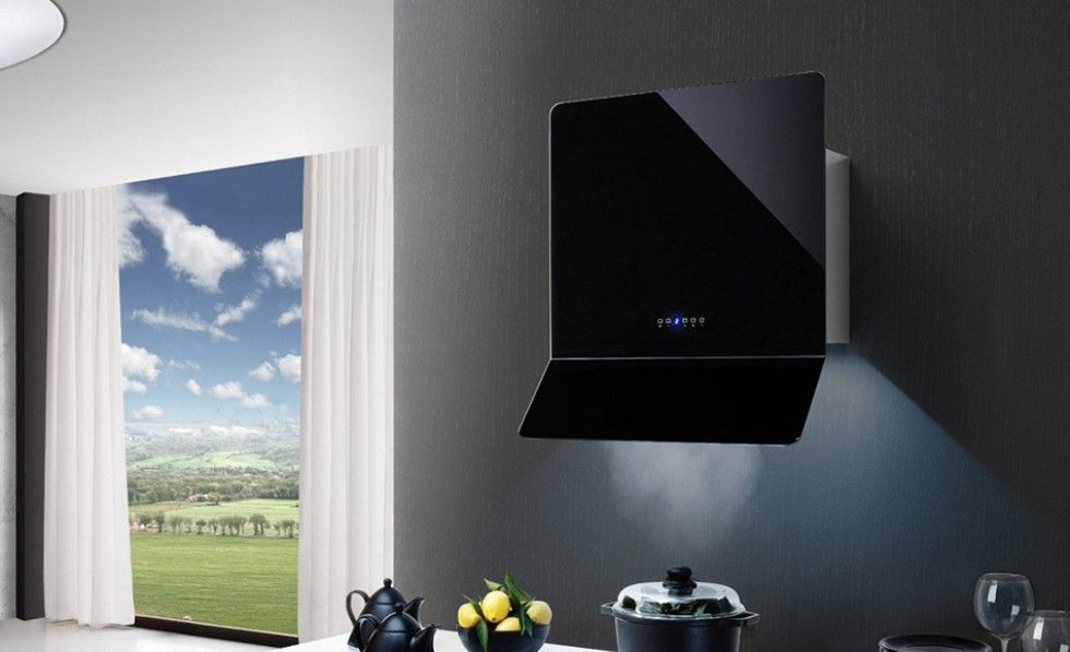Puccini Wall Mounted Cooker Hood Online Kitchen Design Modern Kitchen Extractor Cooker Hoods