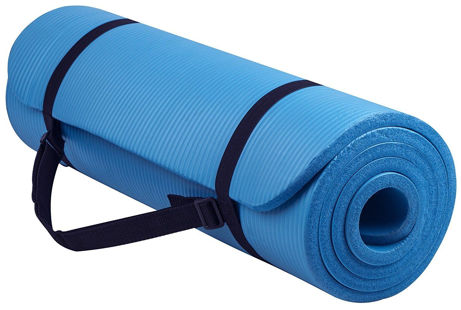 Yoga Mat 1 2 Inch Extra Thick High Density Anti Tear All Purpose Yoga Mat Exercise With Carrying Strap Blue 72 Long Yoga Mats Best Mat Exercises Yoga Mat