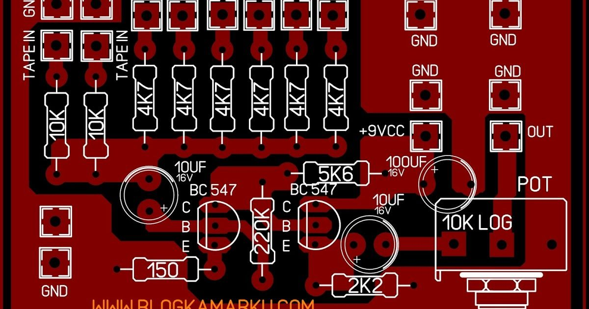 Cara membuat Mixer sederhana 8 input dengan 2 transistor