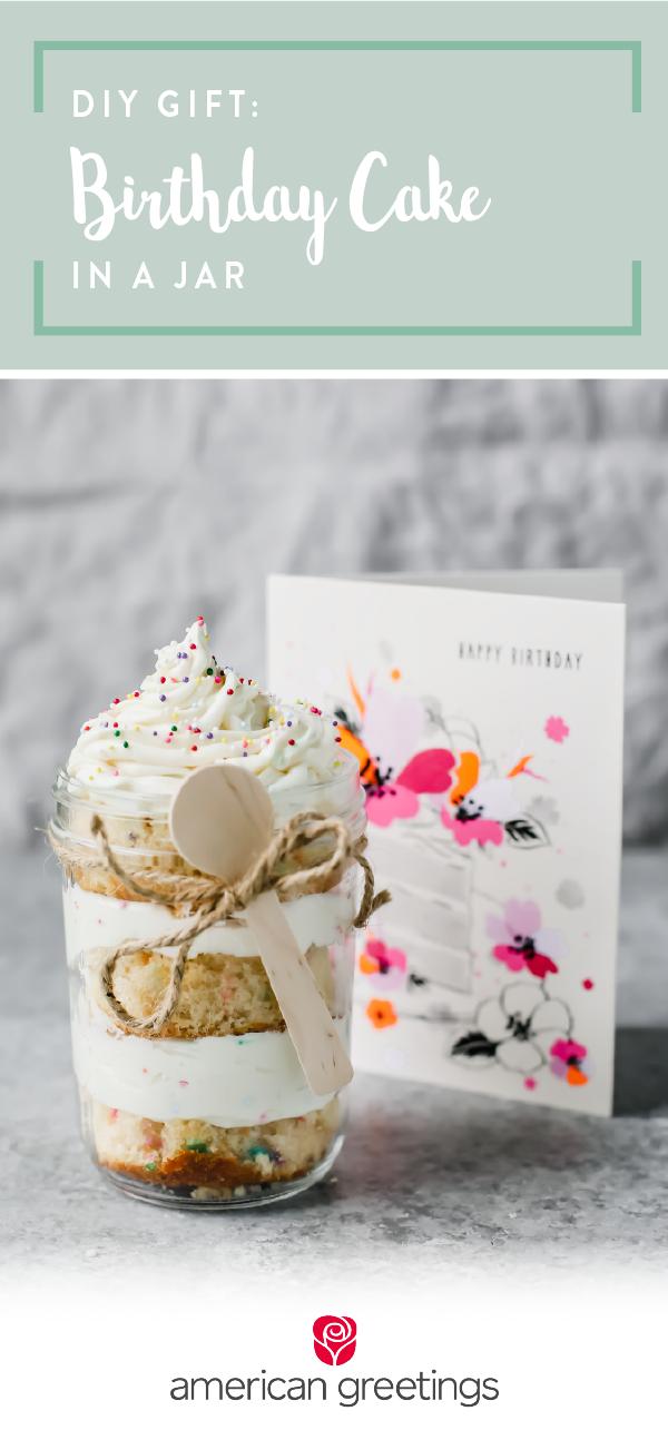 Birthday Cake In A Jar Gift Diy Summer Gifting Pinterest