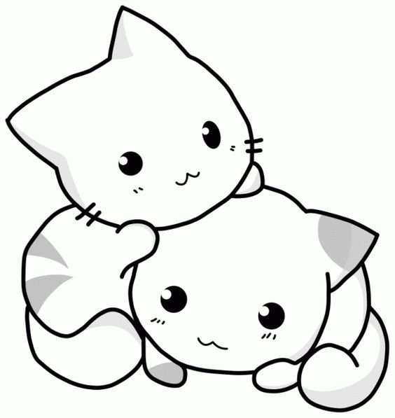 Cute Kitty Coloring Pages For Little Kids Cute Animal