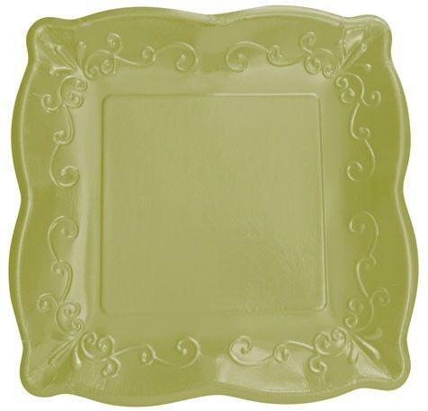 Paper Plates Embossed Paper Square Paper Elegant Dinnerware
