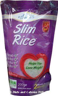 Diets and Calories: Eat Water Low Calorie Slim Noodles, Pasta, Rice Review