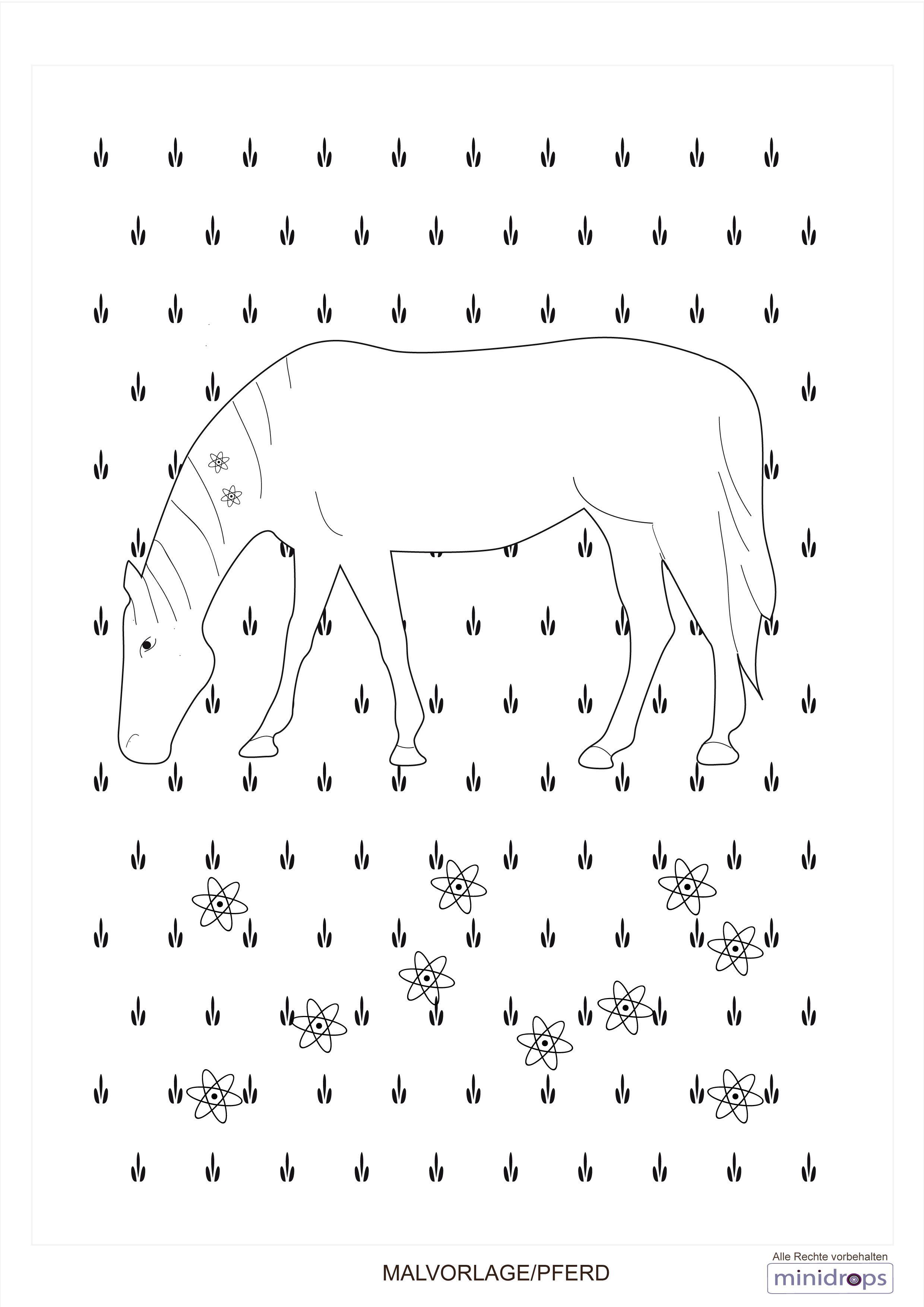 Pferde - Kostenlose Malvorlagen und Ausmalbilder | Pferde ...