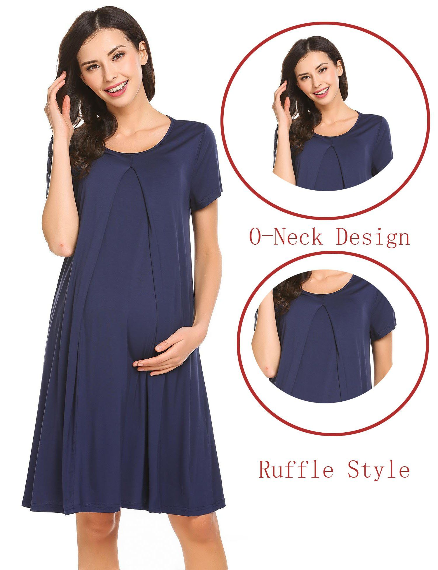 4e48217c82359 Maternity Outfits - awesome maternity dresses   Adidome Maternity Nursing  Nightgown Dress Sleepwear Breastfeeding Pregnancy Pajamas    Read more at  the ...