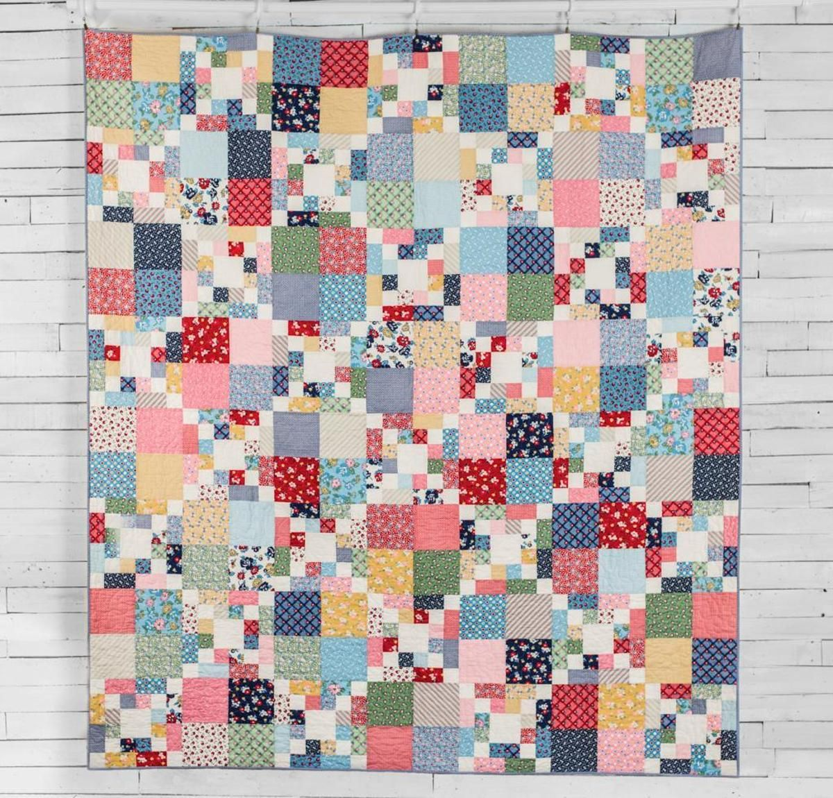 Scrappy Chain Quilt Kit Fabrics Patterns and Patchwork