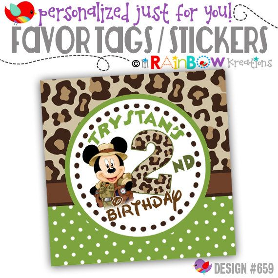 FVTAGS-659: DIY Mickey Mouse Jungle Safari by LilRbwKreations