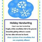 Prep this one easily now for ease in December and January! This is a clever little set of Holiday Handwriting cards for your literacy centers. Handwriting cards include original poems: 4 Christmas,  1 Hannu...