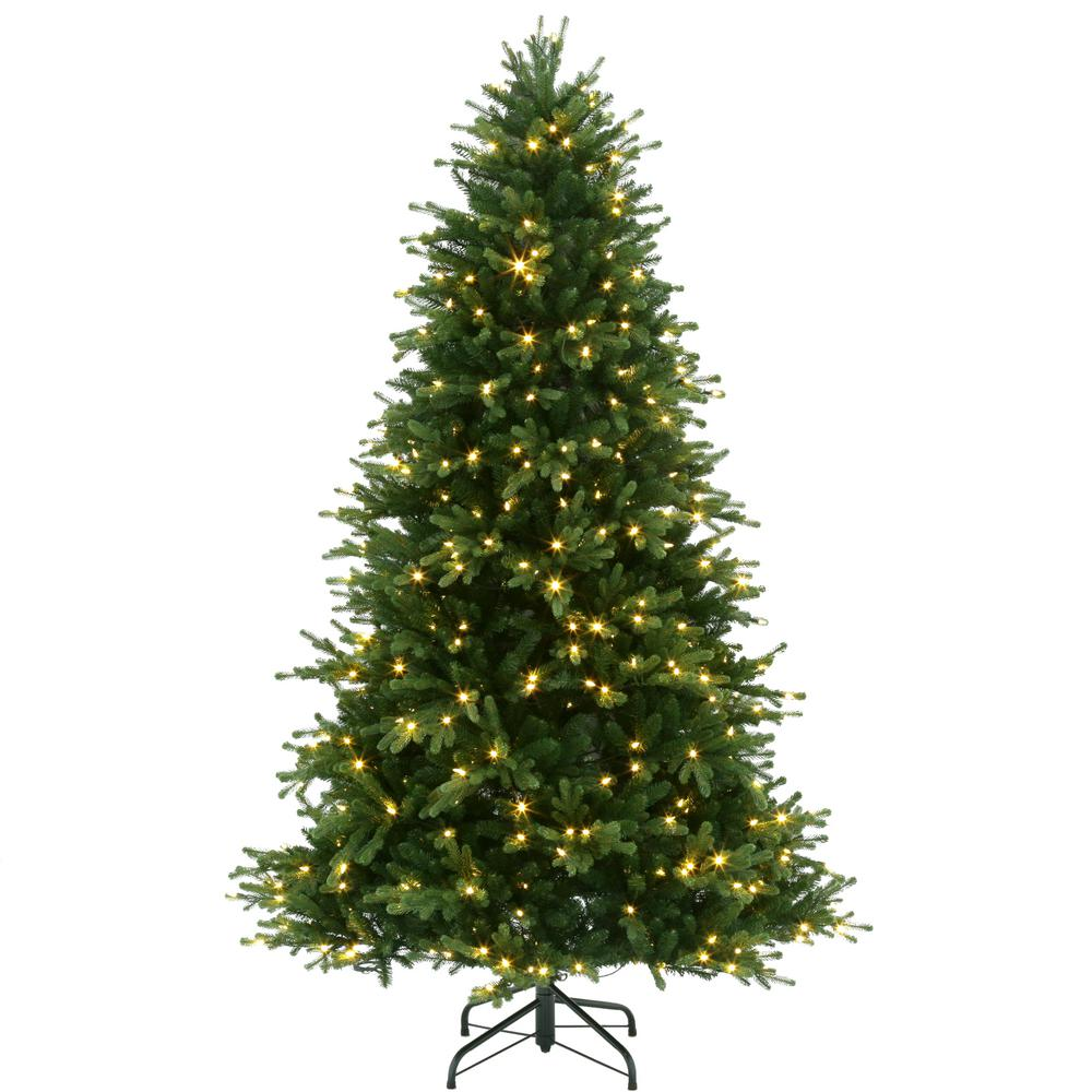 7 5 Ft Pre Lit Led Naturalle Fir Artificial Christmas Tree