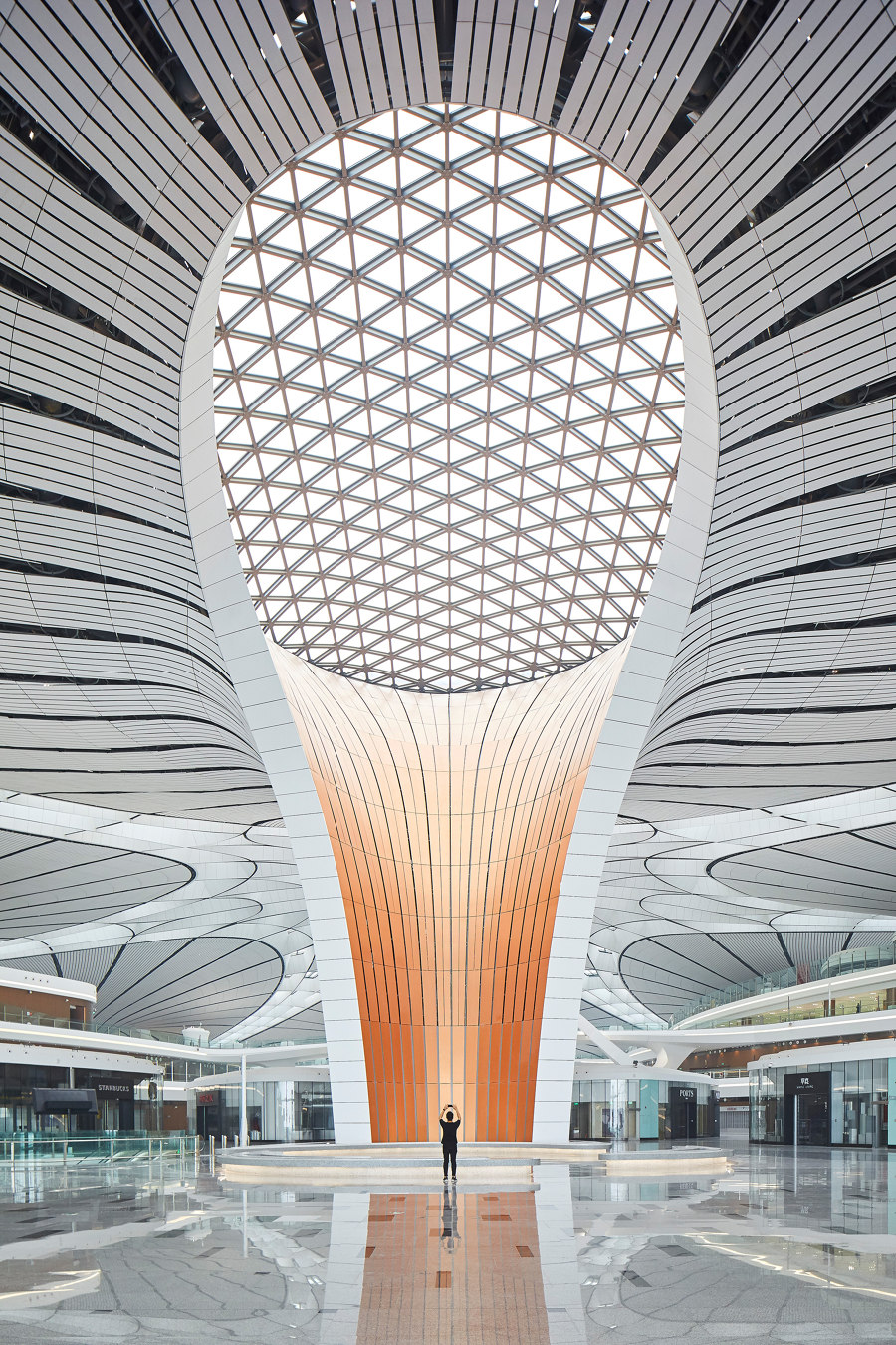 Beijing Daxing International Airport By Zaha Hadid Architects #nowonarchitonic #interior #design  #architecture #airport #beijing #china