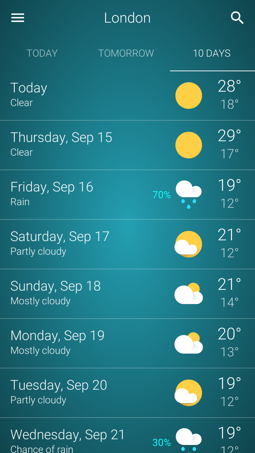 10 Days Weather Forecast 10 Day Weather Forecast Best Weather App Weather Data