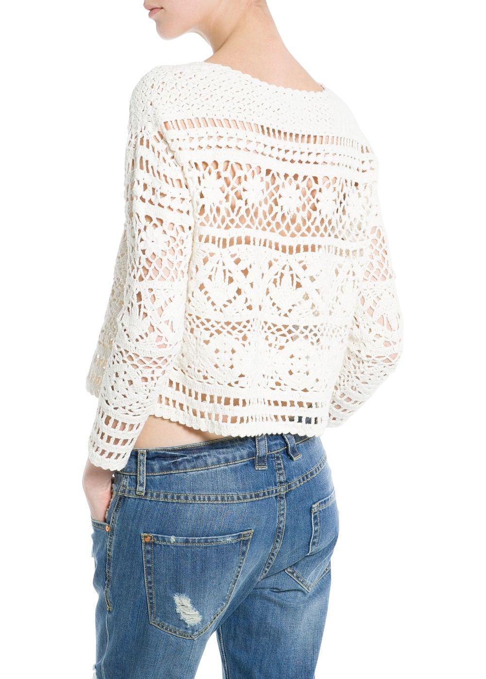 Crochet cortada camisola | TEJIDOS | Pinterest | Croché, Ganchillo y ...