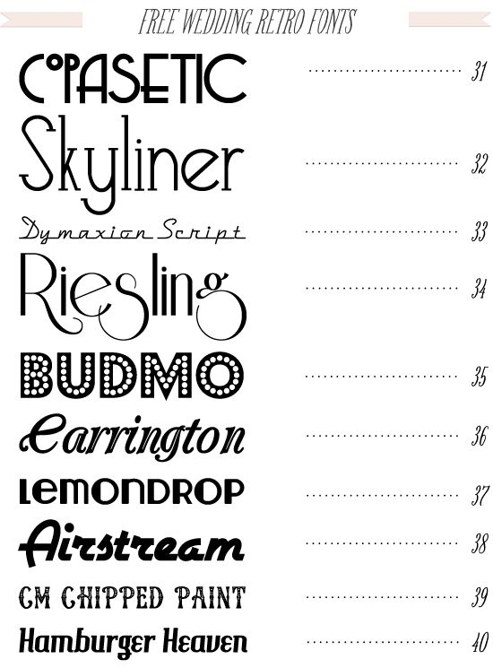 Free 40 fonts for DIY Wedding Invitations from dafont.com ...