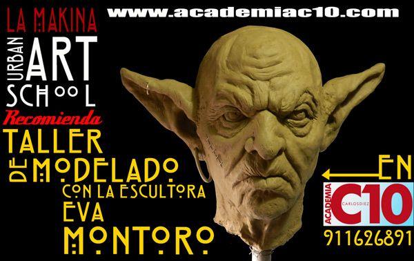 Cartel promo    LA MAKINA Escuela de arte urbano, Eva Montoro ,  para facebook. Ignacio Junquera