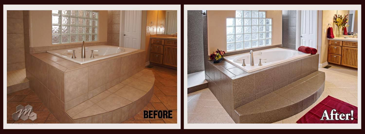 The transformation by Miracle Method in this bathroom was very ...