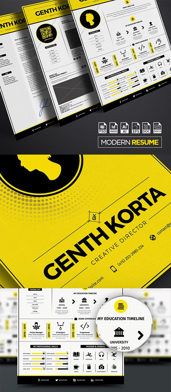 Modern Resume Iconic A  Us Letter  Web Design