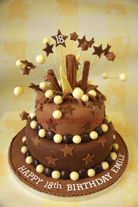 2 tier chocolate bakery like pinterest 18th birthday for 18th birthday cake decoration ideas