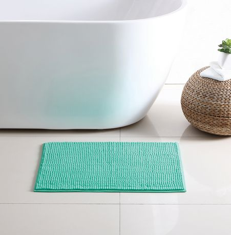 Mainstays Noodle Bath Rug Aqua 17 In X 24 In Rugs Rugs On Carpet