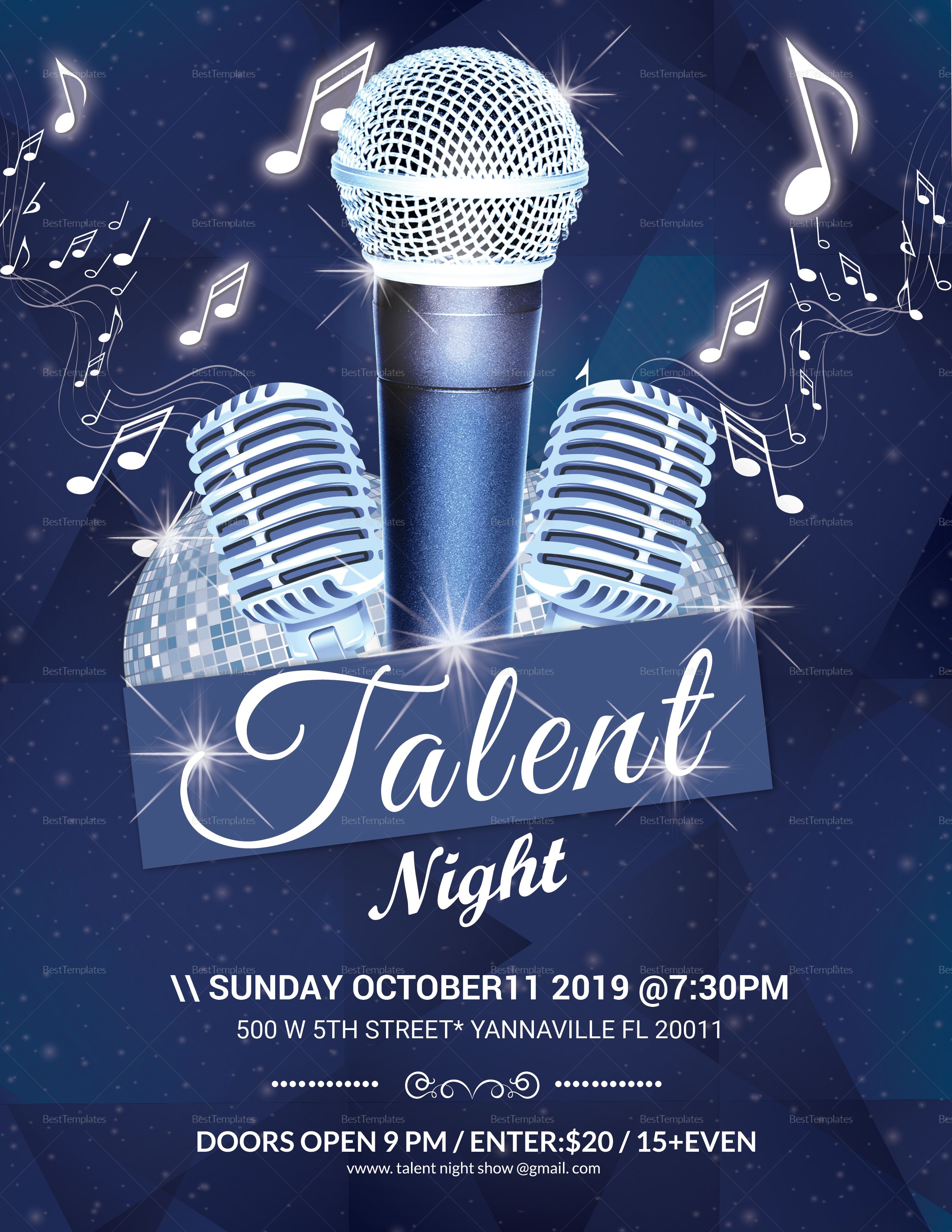 Talent Night Flyer Template Flyer Template Talent Show Flyer Free talent show flyer template