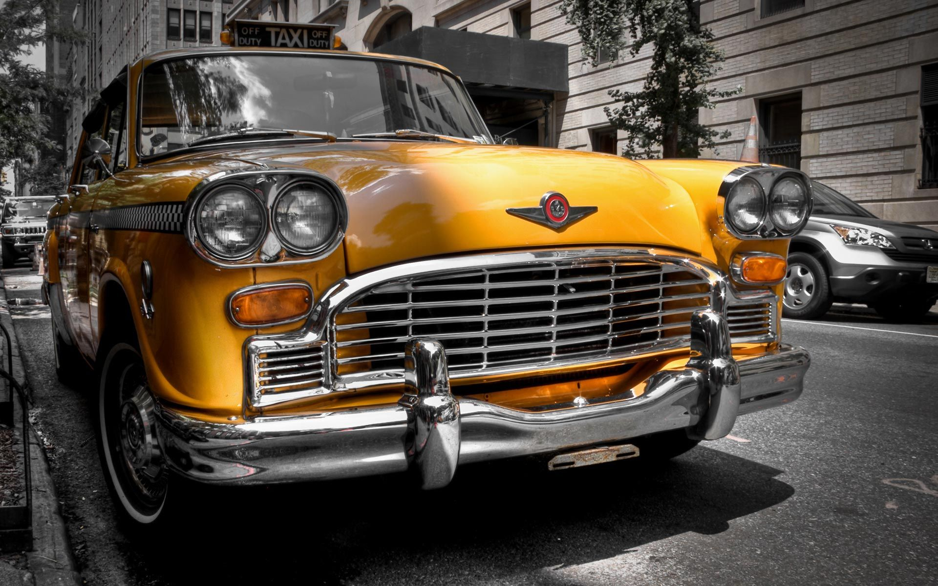New York Winter Yellow Cab Hd Place