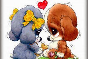 Imagenes Bonitas De Amor Imagenesdeamor Uno Animales Perros Tiernos Animados Dibujo De Perro Perros Enamorados