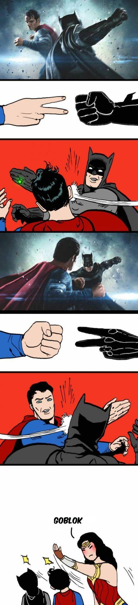 Komik Koplak Batman v Superman Komik, Batman vs superman