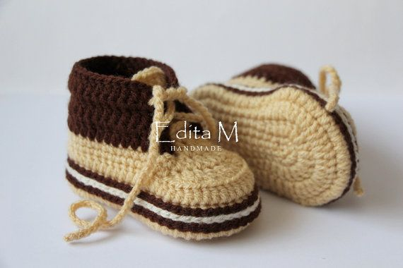 dd80ccce2bf90 Crochet baby booties, unisex baby booties, baby shoes, boots, baby ...