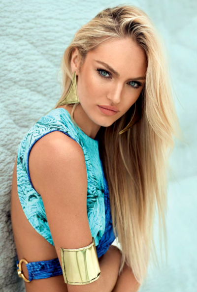 Candice Swanepoel Model Beauty Hair