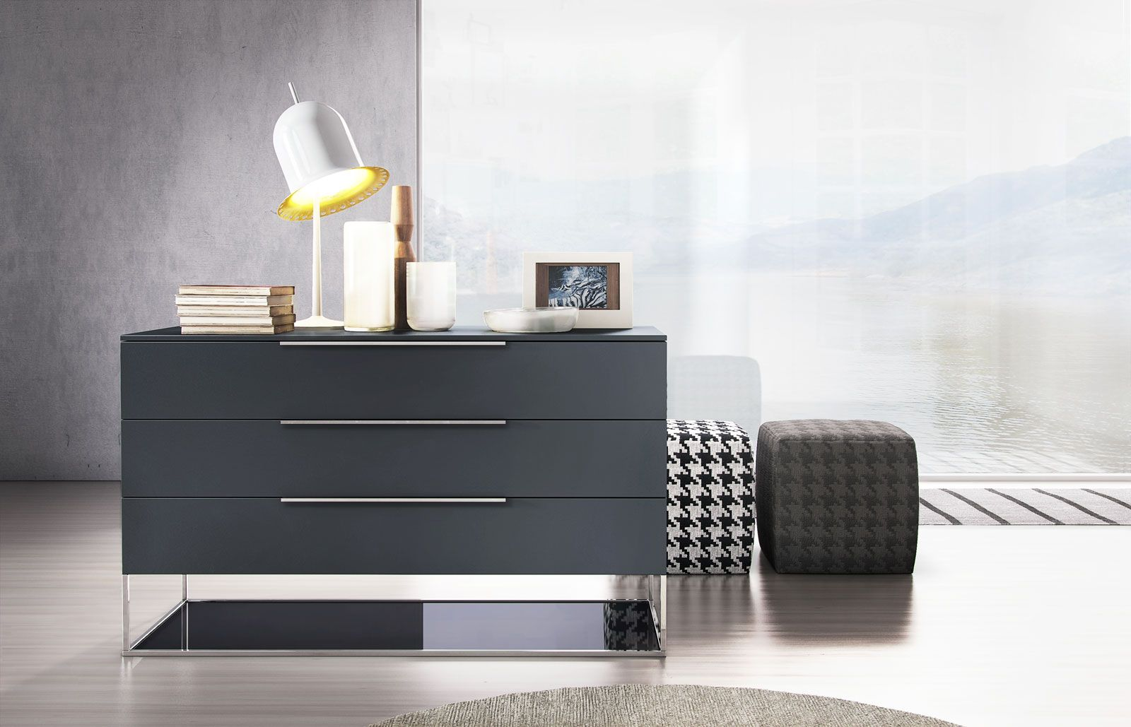 The Bowery Dresser Is An Unabashedly Bold Addition To Your Urban Haven This Wide Three Drawer Dres Modern Dresser Modern Bedroom Dressers Small Dressing Rooms