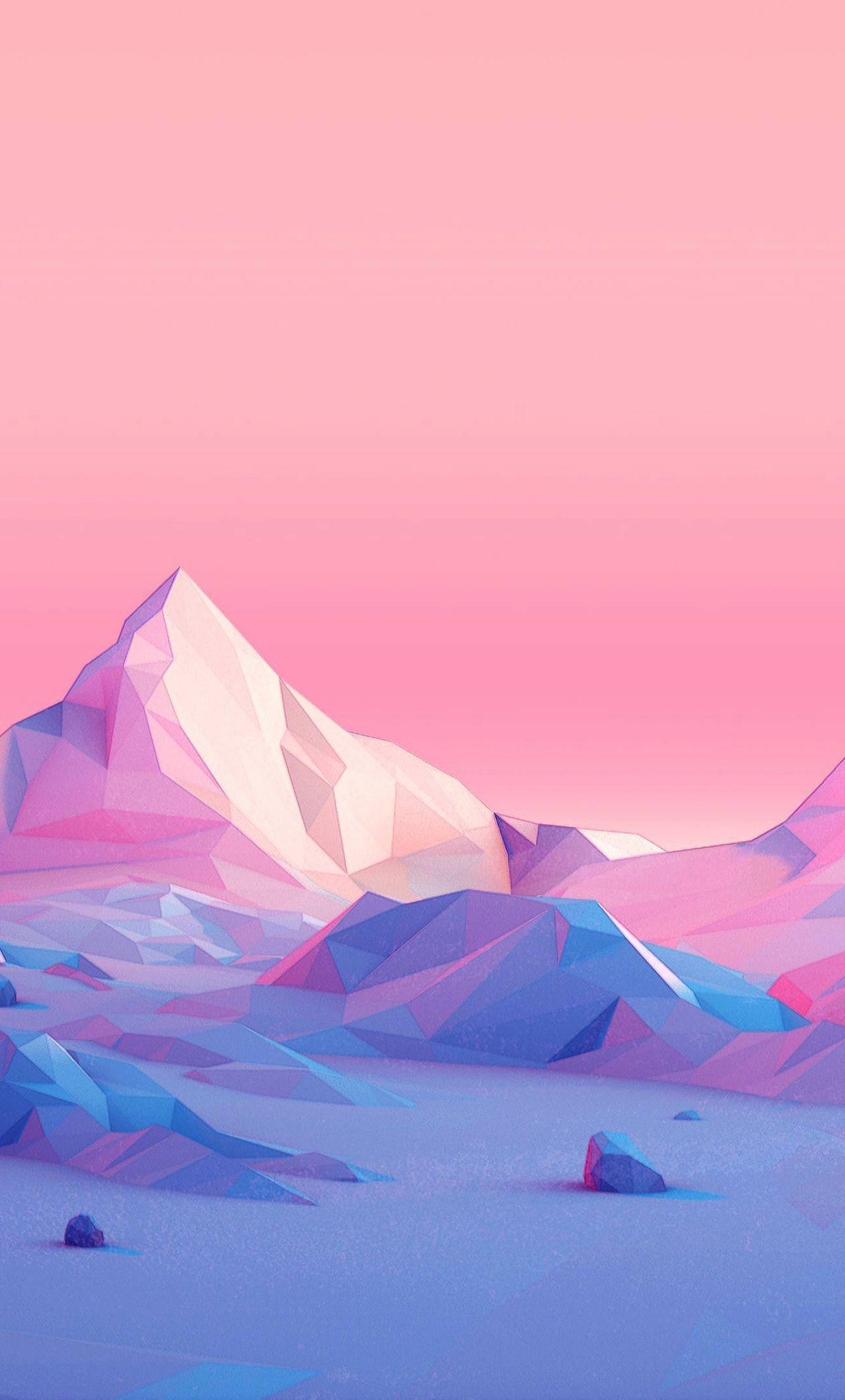 Minimalistic Polygon Mountain [1280x2120]
