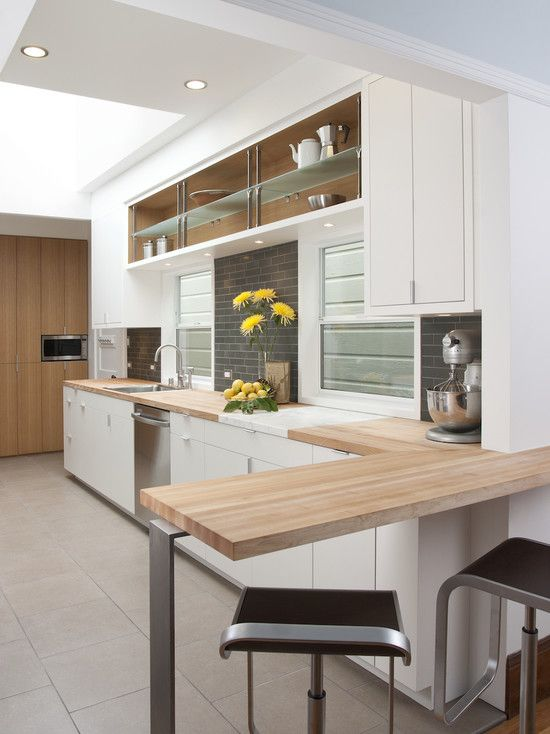Home Bar Modern Kitchen With Display Shelves An Integrated Steel Aluminum And Gl System