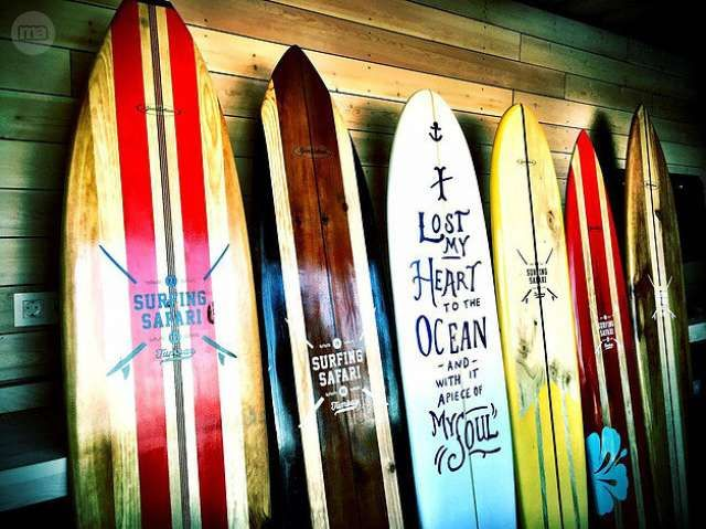 Hola tablas de surf decorativas en madera se realizan - Tabla surf decoracion ...