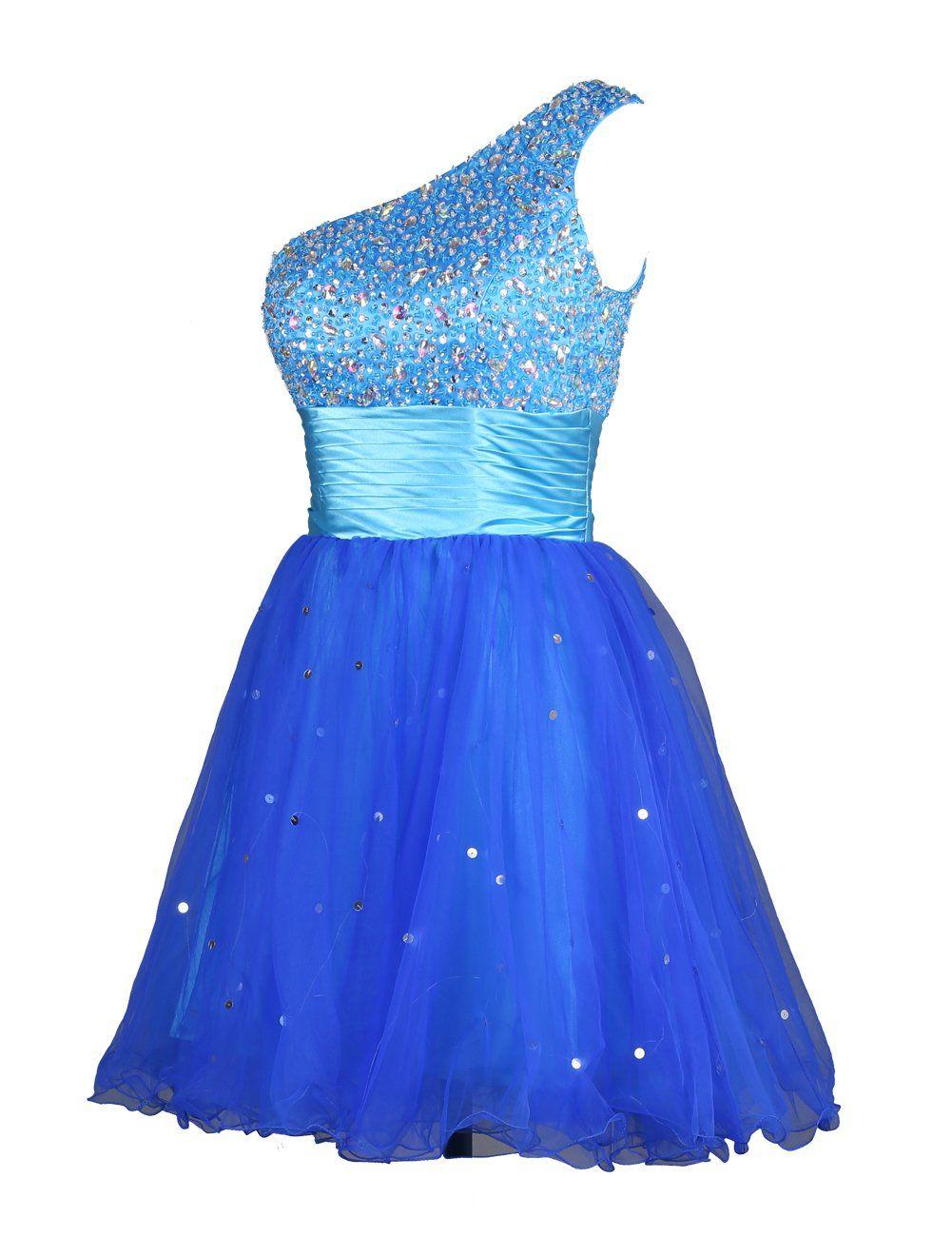 Robe de soiree bleu saphir