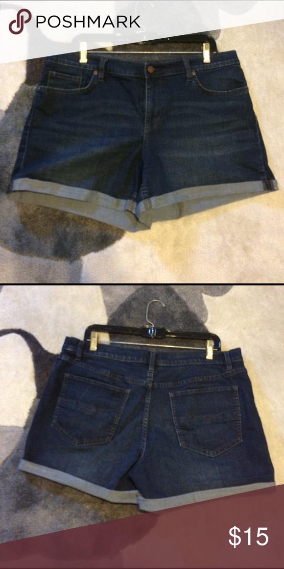 5 pocket denim short Blue Denim short New York & Company Shorts Jean Shorts