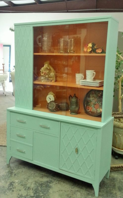 midcentury modern china cabinet with a twist a twist of lime