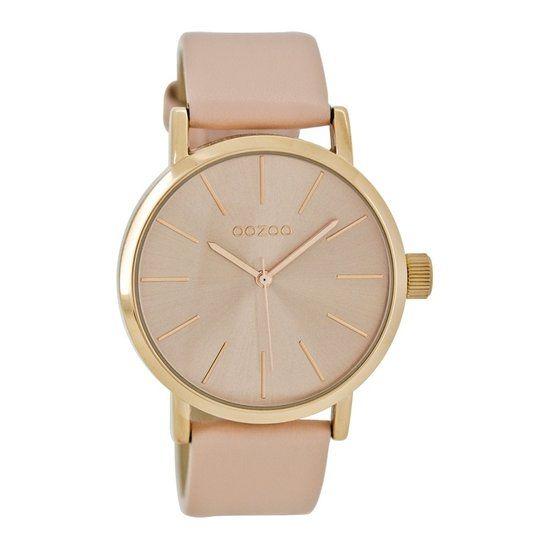 OOZOO Timepieces horloge Roze C7171 - Horloge - 40 mm - Leer - Roze