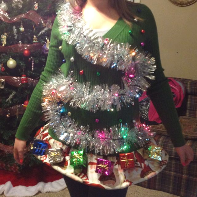 Diy Christmas Tree Sweater: Now This Is Definitely A Favorite!! Enter Your Tacky