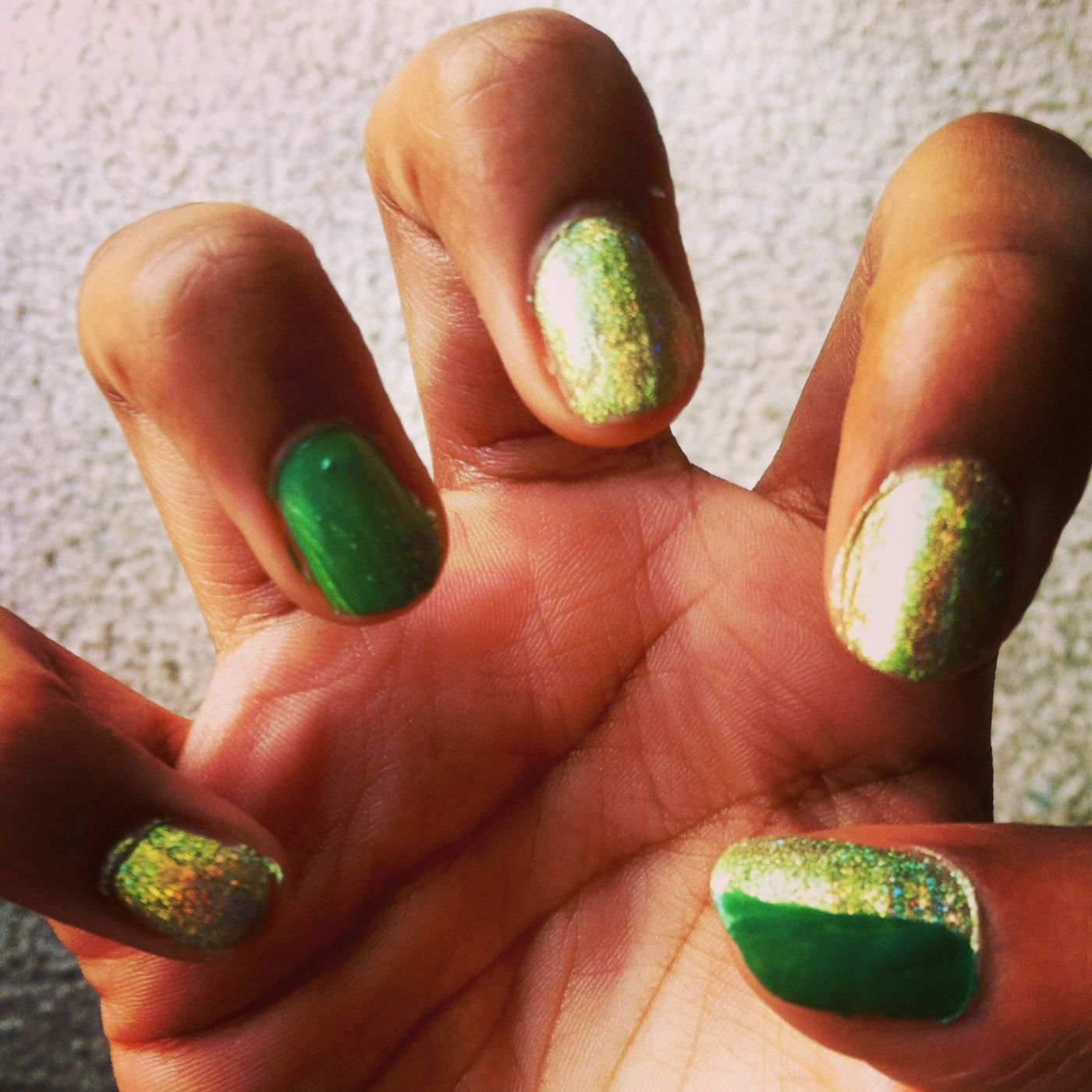 BackToSchool Easy Green Glitter colors are Don't Mess