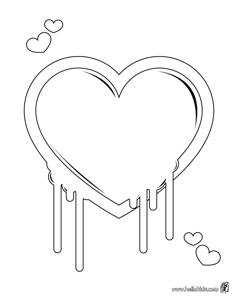 Print Page Heart Lollipop Heart Coloring Pages Mood Ring Color Meanings Valentines Day Coloring Page