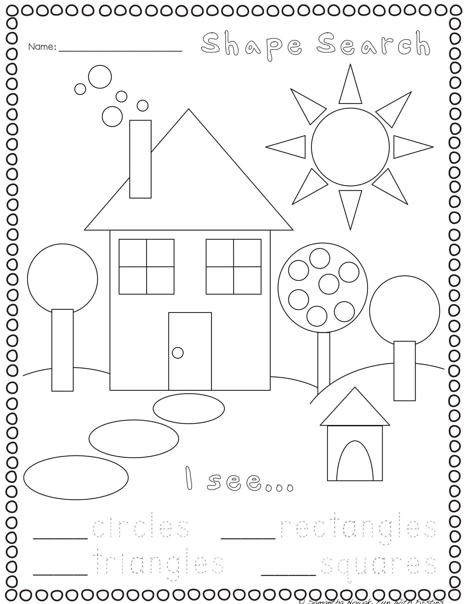 Kindergarten 3d Shapes Worksheets Print Go Geometry